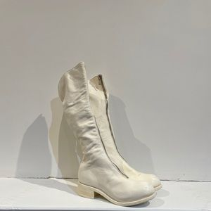 Guidi PL3 Front Zip Boot in White